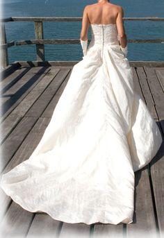 Robe de mariée Taffetas taille 38 et accessoires d'occasion