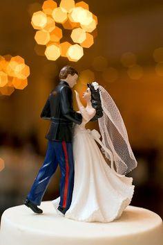 Military USMC Marine Corps Heart Wedding Cake topper Groom EGA groom ...