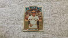 1972 Topps Pittsburgh Pirates Roberto Clemente single baseball card