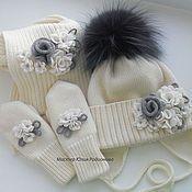 Зимний мериносовый комплект для девочки