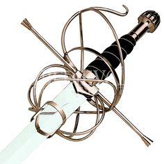 Immy's gold swept long sword