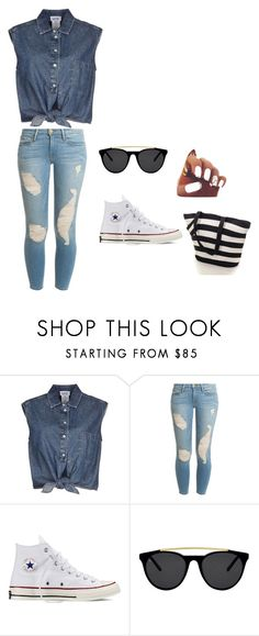 """Bez naslova #1"" by almma-karic ❤ liked on Polyvore featuring Jean-Paul Gaultier, Frame Denim, Converse and Smoke & Mirrors"