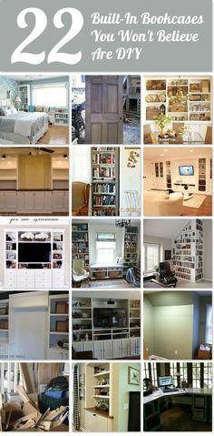 22 built-in bookcases you won't believe are DIY | Hometalk