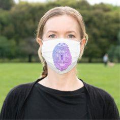 Face Mask DRAGON KEYHOLE PLATE purple-blue Detail Shop, Custom Clothes, Sensitive Skin, Fashion Accessories, Dragon, Plates, Purple, Face, Beautiful