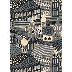 Marimekko Kumiseva Grey Fabric Repeat