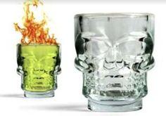 Crystal Skull Shot Glasses - Set of 4 (2.5 oz)