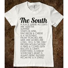 THE SOUTH ($24.99) I'm a southerner at heart...