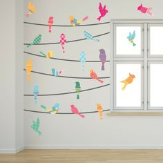 Pattern Birds on a Wire Wall Decals will transform any space.
