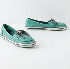 anthropologie mint loafers