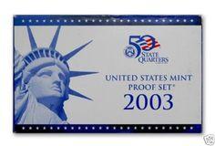 2003-S-United-States-Mint-Proof-Set-10-Coins-COA-OGP