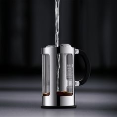 "Bodum ""Chambord"" Locking Lid French Press Coffee Maker Home - Bloomingdale's Pod Coffee Makers, Cold Brew Coffee Maker, Drip Coffee Maker, Hot Coffee, Coffee Cups, Coffee Beans, Stainless Steel French Press, French Press Coffee Maker, Chambord"