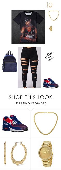 """A I"" by flydreamersfashion on Polyvore featuring NIKE, Decadence, Betsey Johnson and Michael Kors"