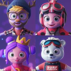 Funny characters in technique for future animation Zbrush Character, 3d Model Character, Funny Character, Character Modeling, Game Character, Character Concept, Cute Illustration, Character Illustration, Character Design Animation