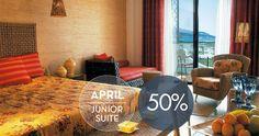 April offer Enjoy Luxury - Enjoy more: April -50% on Junior Suits. Enjoy the Aegean Sea, the sun, the Greek hospitality in Thassos Island. Enjoy Summer! Enjoy Iliomare Hotel and Resorts! BOOK NOW