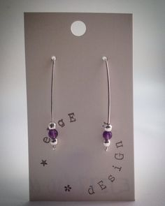 Wire Balance Earrings - Silver plated