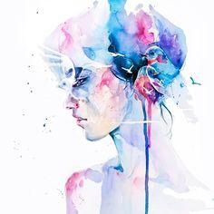 Pen / watercolor art