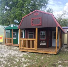 Coastal Portable Buildings Deluxe Lofted Barn Cabin Or Standard Cabin. Your  Choice Lofts Or No