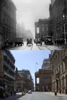 Dale St Liverpool, 1925 and 2019 Liverpool History, Liverpool Home, Keith Jones, Buses And Trains, Town Hall, Scotland, How To Memorize Things, Louvre, British