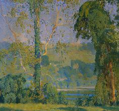 "Daniel Garber /""Vineclad Trees 24x24 NEW from the Detroit Museum of Art"