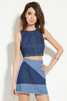Contemporary Denim Mini Skirt | Forever 21 - 2000150116