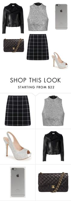 """""""Untitled #2"""" by caitlinbates ❤ liked on Polyvore featuring Miss Selfridge, Topshop, Lauren Lorraine, Yves Saint Laurent, Incase, Chanel, women's clothing, women, female and woman"""