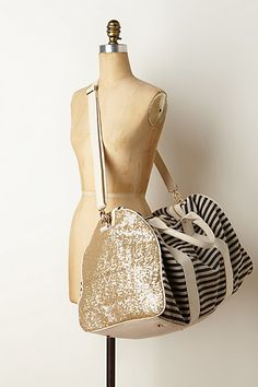 Striped & Sequined Weekender | Anthropologie