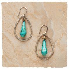 Hoop Earrings - Raindrop Splash Earrings