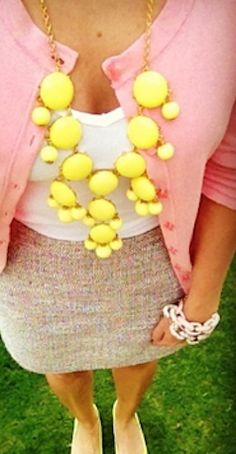 #yellow bubble #necklace http://rstyle.me/n/f6znypdpe