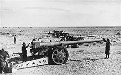 2.WW, North Africa, war theater (Africa campaign) German-italian army (Feb.41-May43): Heavy italian artillery in position near El Mekili (Mechili).spring 1942, pin by Paolo Marzioli