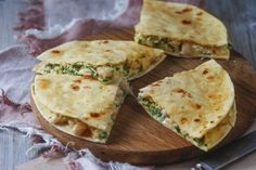 Spinach and White Bean Breakfast Quesadilla