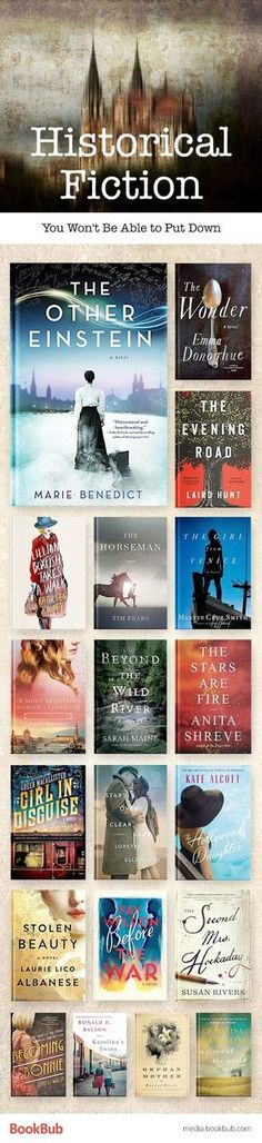 19 Historical Fiction Books to Read in One Sitting Great historical fiction books you won't be able to put down. If you love history novels, this reading list is for you. Books And Tea, I Love Books, Good Books, Big Books, Teen Books, Up Book, Book Nerd, Book Club Books, Fiction Books To Read