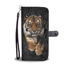 Hand Crafted Tiger Wallet Case – Wear Saga Tigers, Saga, Wallet, Prints, Leather, Handmade, Animals, Animaux, Craft