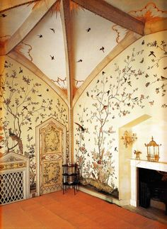 inspiration for a beautiful nursery room! Birdcage Room - Grimsthorpe Castle, Lincolnshire circa Book: Early Georgian Interiors by John Cornforth Georgian Interiors, Baby Room Decor, Wall Decor, Dream Rooms, My New Room, Home Design, Design Ideas, Design Inspiration, Design Case