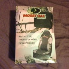 Mossy Oak Seat Cover New with box. Never taken out the box just got a little crushed. Other