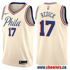 5ec12fc0ec12 Philadelphia 76ers  17 JJ Redick Cream Nike NBA Men s Stitched Swingman  Jersey City Edition