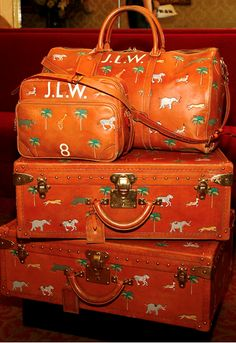 """Louis Vuitton Honors Wes Anderson and """"The Darjeeling Limited"""" - 45th New York Film Festival - Photo by Mark Von Holden Marc jacobs for Louis Vuitton luggage."""