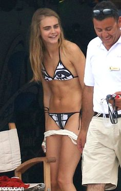 Cara Delevingne stripped down to a bikini during a July yacht trip in the south of France. The Bikini, Sexy Bikini, Cara Delevingne Bikini, Poppy Delevingne, Cara Delvingne, Celebrity Bikini, Cute Young Girl, Mädchen In Bikinis, Bikini Photos
