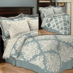 The Sonata Reversible Bed In Bag includes a Comforter, Bedskirt, Sh...