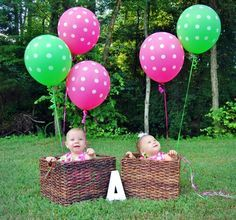 Twins • 1st Birthday Photo • Photography • Outdoor