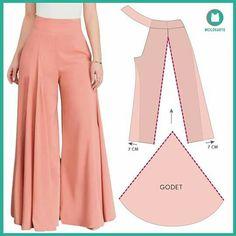 Fashion Sewing, Diy Fashion, Fashion Outfits, Sewing Pants, Sewing Clothes, Dress Sewing Patterns, Clothing Patterns, Pants Pattern, Diy Clothing