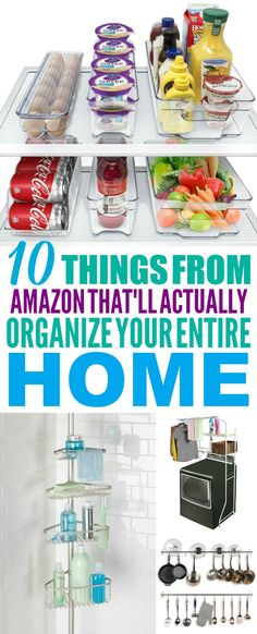 These 10 organization ideas for the home are THE BEST! I'm so glad I found these AMAZING organizing ideas. Now I have some great ways to organize my home and save money! #organize #organization #organizationideas #organizationhacks