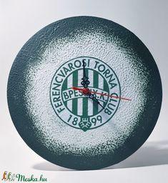 FTC sötétben fluoreszkáló fa emblémás falióra futball rajongói ajándék férfiaknak, férjeknek, barátoknak (Biborvarazs) - Meska.hu Fa