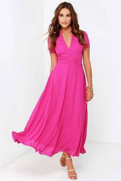 cute pink long maxi dress | Shopo.in