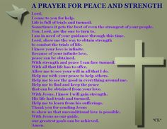 Prayer for peace and strength
