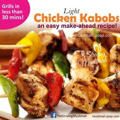 Light Chicken Kabobs! an easy make-ahead recipe, wont give you heartburn!