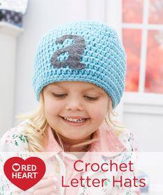 Crochet Letter Hats