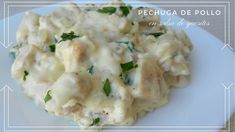 Pechuga de pollo en salsa de quesitos. #recetas #pollo