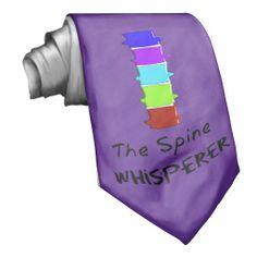 "Chiropractor Men's Tie ""The Spine Whisperer"" http://www.zazzle.com/chiropractor_mens_tie-151103567283849688?view=113372480740217337&rf=238282136580680600"