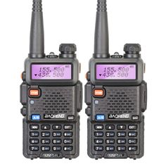 2 pezzi/lottp brand new baofeng uv-5r interphone vhf 136-174 mhz & UHF 400-520 MHz UV5R Dual Band Dual Visualizzazione Walkie Talkie