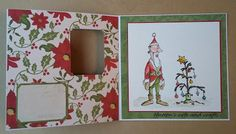 Hutton's arts and crafts Art Impressions Reindeer Games Cliff as Santa Lori Whitlock this&that handmade Christmas card